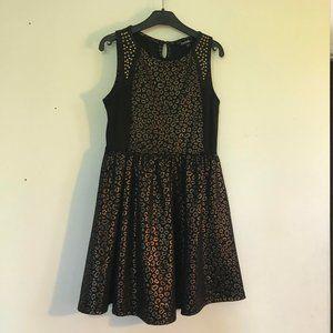 3 for $15/Sleeveless Gold Leopard Print Dress